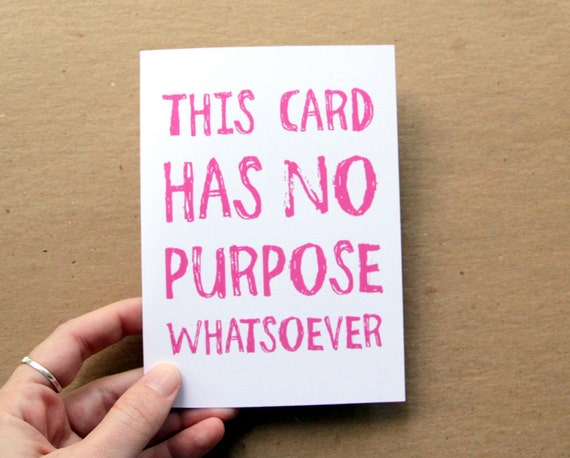 anti valentine card funny no purpose card for all occasions choose your color greeting card letterhappy etsy valentine card