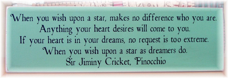 Jiminy Cricket Sayings Jiminy cricket quotes wish
