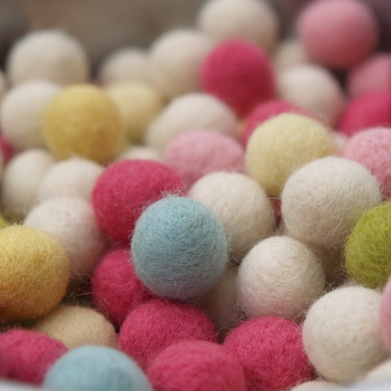 Tiny Woolly Easter Eggs - set of 10, Needle Felted, Pastel Colors, Spring Beads