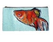 Back to School - Goldfish Pencil Case - Oliver - HeavenlyCreaturesArt