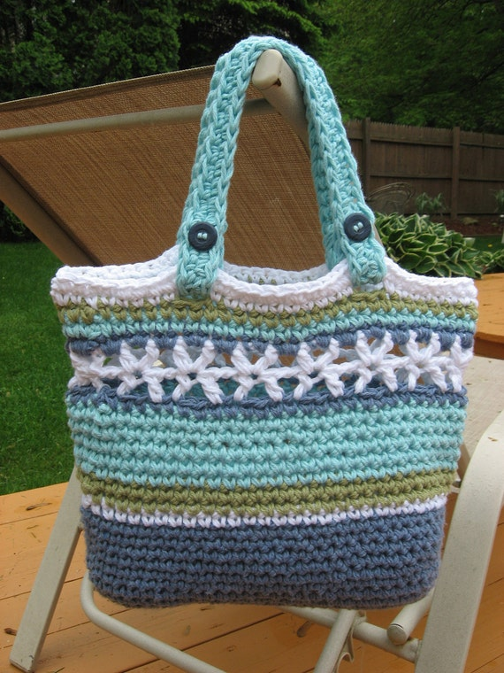 Beachside Bag, Crochet Pattern Pdf ,