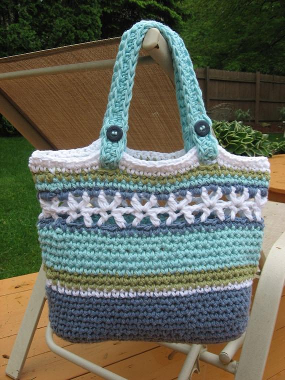 Beachside Bag, Crochet Pattern Pdf ,
