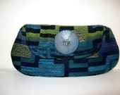Blue and Green Clutch by 2chicdesigns