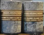 ILLUME Candle: Fragrant Dark Blue Amber Lotus Orange Blossom &  Ylang Ylang Pillar Candle 3x4.5