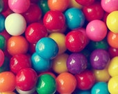 Gumball Fun - Fine Art Candy Photograph - 5x5 - food rainbow childhood circle vivid bold Easter colorful candy