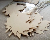 Maple Leaf Gift Tags and Place Cards, Wedding Escort Cards and Favor Tags - BirdcageCards