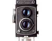 yashica vintage camera photograph / photographer, yashica-a, black and white / yashica / 8x10 fine art photo