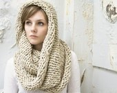 Large Wool Cowl - Circle Scarf - Infinity Scarf - Choose Your COLOR - mbgdesigns