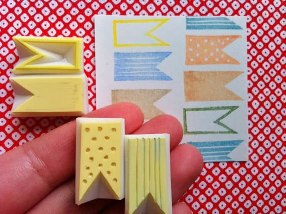 bunting rubber stamps