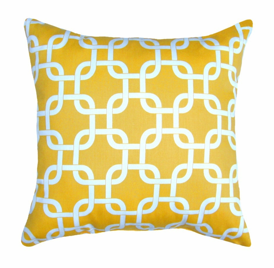 Yellow Love Throw Pillow : Yellow Decorative Pillows - Kids Art Decorating Ideas