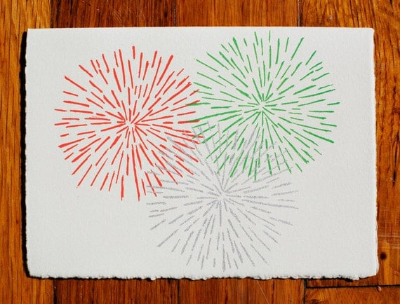 Fireworks Blank Greeting Card