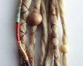 10 Custom Dreads Hair Wraps & Beads Bohemian Hippie Dreadlocks Blonde Tribal Falls Synthetic Boho Colored Extensions Hair Accessories - PurpleFinchStore