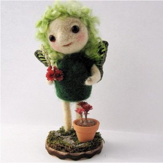 Muse of the Garden Felt Art Doll