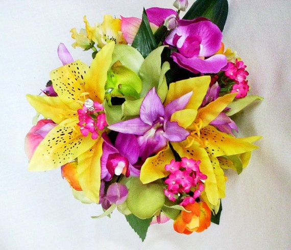 Bridal Bouquet Tropical Flowers : Wedding flowers bouquet tropical