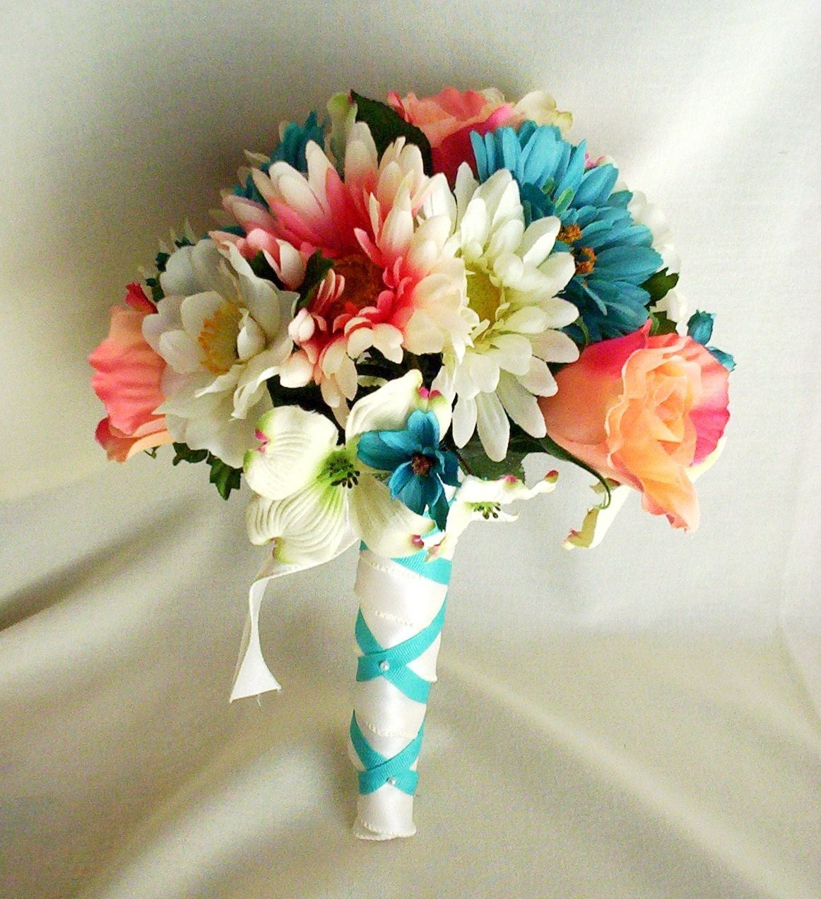 Wedding Flowers: Wedding Ideas: Coral, Mint And Teal Wedding