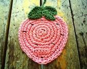 Pink  Strawberry Coasters (4 pc) - MonikaDesign