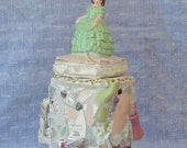 Mosaic Memory Jar - Girl in Green Dress - NellsBelles