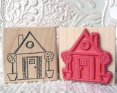 Little House rubber stamp from oldislandstamps