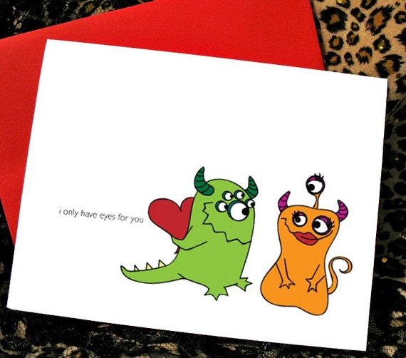 rebelbyfate etsy  quirky valentine's day cards