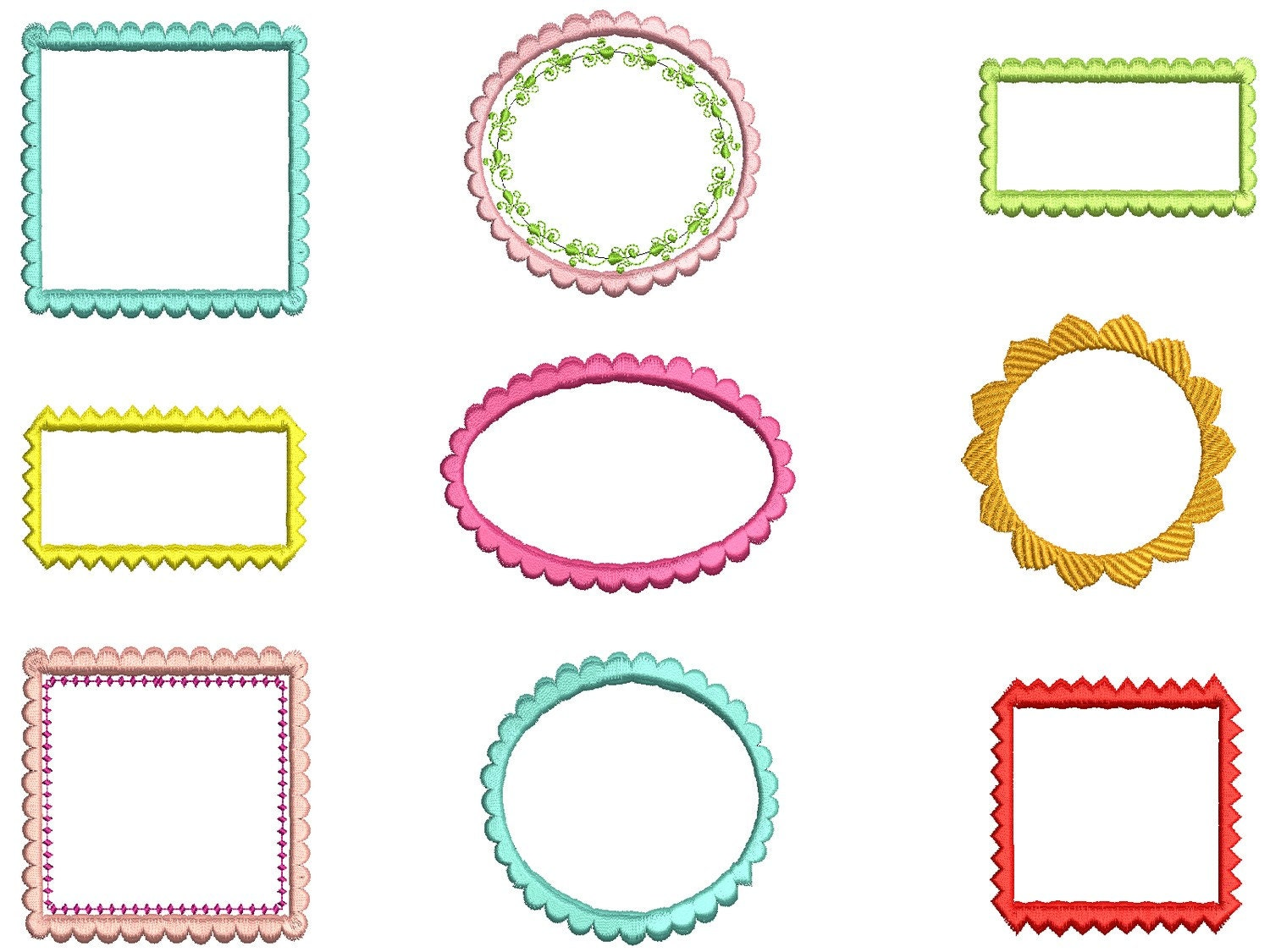free machine embroidery frame designs