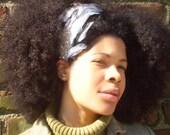 Natural Hair Accessories Black White Feather Rhinestones