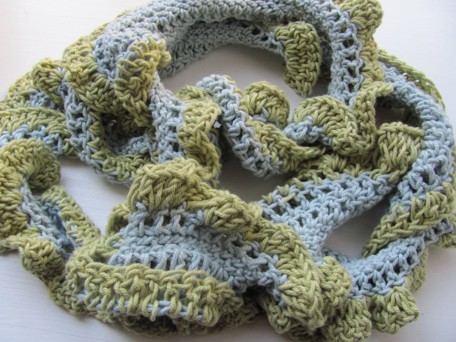 Handknitted scarf for men women100percent Cotton by AnnaLela 100 Cotton Scarves For Men
