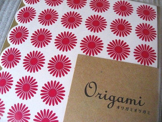 Origami Paper Pink Flowers Origami Paper With Folding Instructions - New Modern Design ( 20 sheets total )