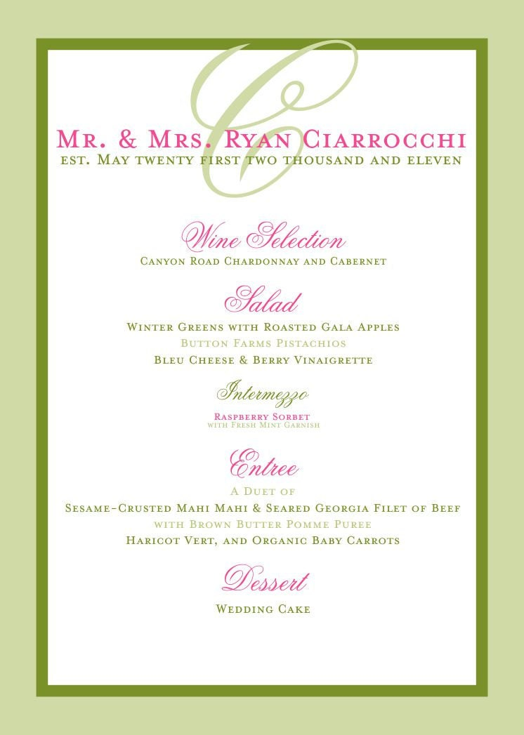 menu ideas for bridal shower luncheon
