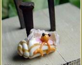 Hermit Crab Ocean Lampwork Bead - moonrakerbeads