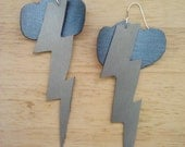 High Voltage Earrings (faux leather)