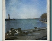 Chinaman's Lighthouse on Lake Erie Polaroid print - TheCamerasEye