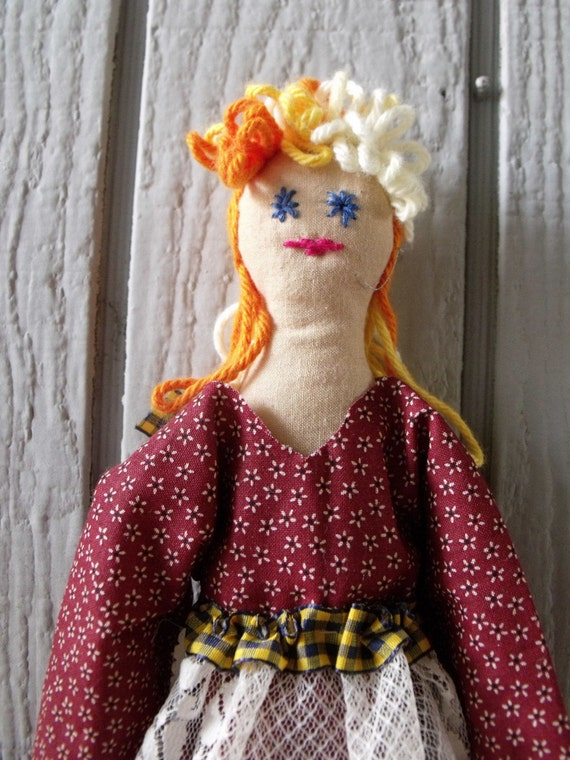 Laura Anne - Girl primitive Doll