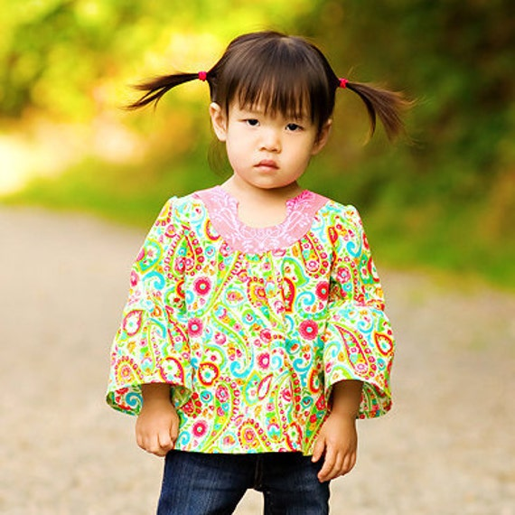 Girls Tunic Pattern - Sis Boom Emily Tunic, PDF E-Book