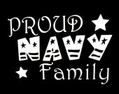Proud Navy Family Vinyl Car Decal - LilMangosDesigns