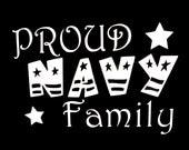 Proud Navy Family Vinyl Car Decal - LilMangosDesigns