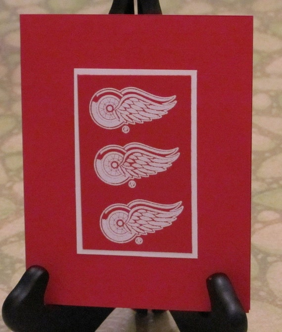 Detroit Red Wings A2 Blank Card