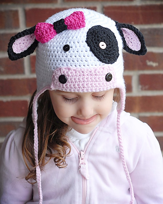 Free Crochet Pattern For Cow Hat : COW CROCHET HAT PATTERN Crochet Patterns