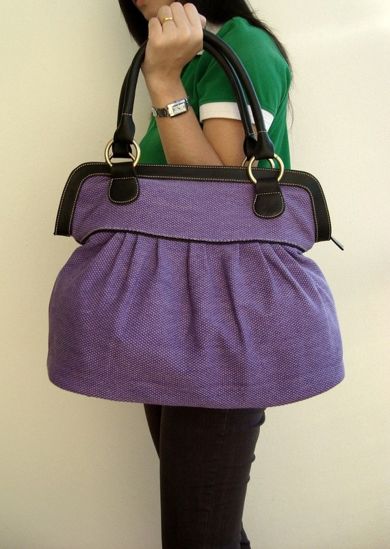 Handbags - Diaper bag, Tote bags, BPurple Women handbag, Travel bag, School bag