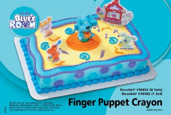 Blues clues room finger puppet cake by krazykhrystyne