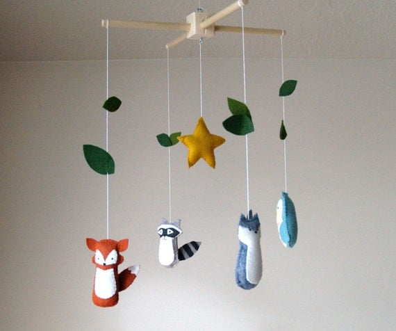 Woodland Friends Baby Mobile