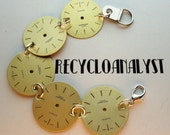 Steampunk Industrial Chic Recycled Watch Faces Bracelet