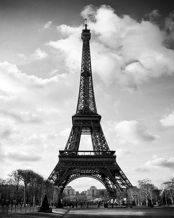 Paris Photography Paris France Eiffel Tower Wall by TraceyCapone