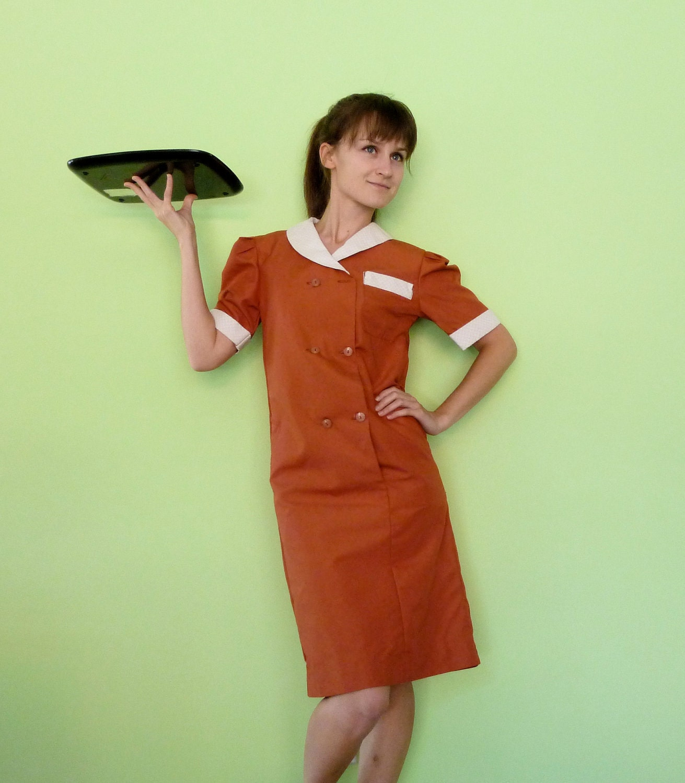 Diner Uniform Costume 1950s Diner Waitress Uniform