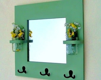 Entryway Mirror With Key Hooks | House Designs
