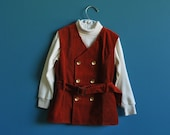 Vintage Children's Corduroy Vest and Turtleneck Set- Size 4t - SweetShopVintage