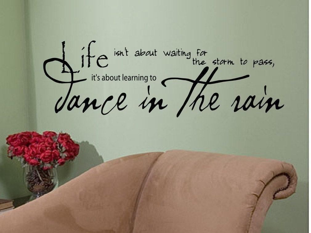Wall Art Quotes Dance In The Rain : Dance studio waiting room decor joy design