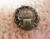 Vintage Sterling Silver Safety Award, Great Gag Gift for the Accident Prone, Time Raveler