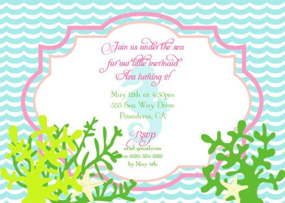 Beach Theme Party Invitations as best invitation example