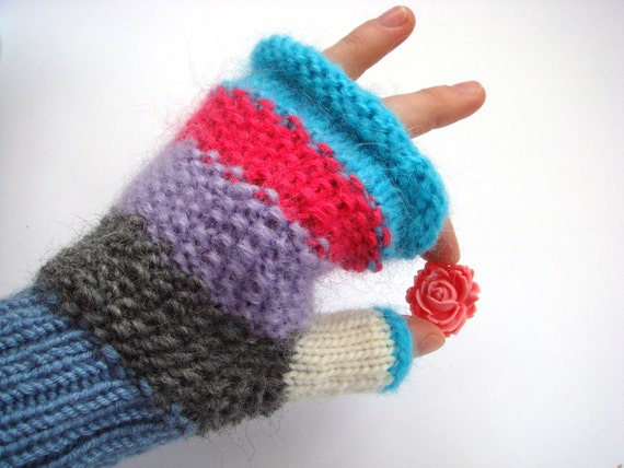 Cute fingerless mittens, fingerless mittens, women fingerless mittens