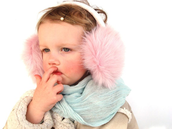 Pink Kids Earmuffs, headpiece, pink ear muffs, children accessory, gift for toddler girl